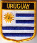 Uruguay Embroidered Flag Patch, style 07.